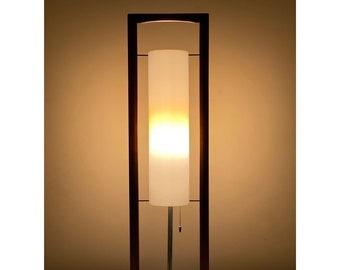 Rare Modeline California Sculptural Walnut Table Lamp 1960s