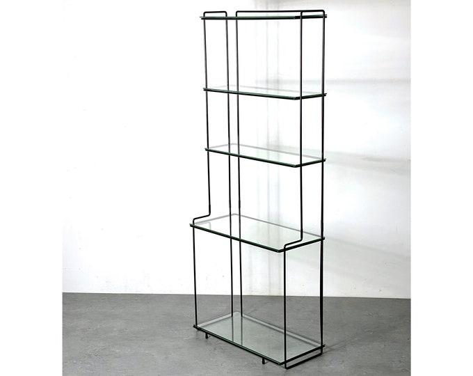 Rare Max Sauze Isocele Wire Glass Etagere
