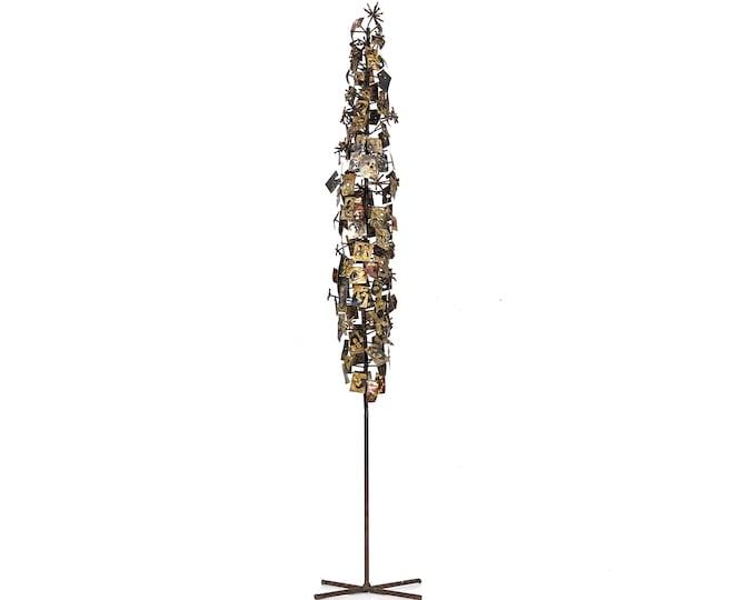 """52"""" Abstract Brutalist Metal Floor Sculpture 1960's"""