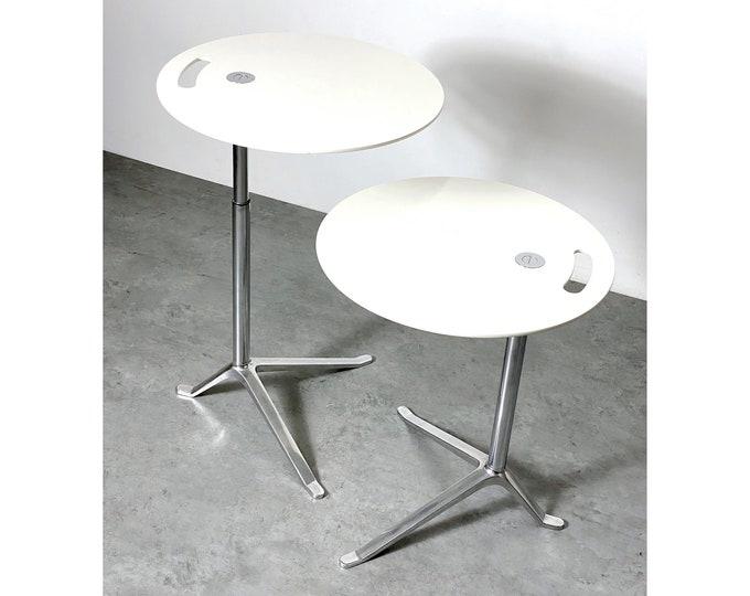 Pair Kasper Salto Fritz Hansen Adjustable Side Tables