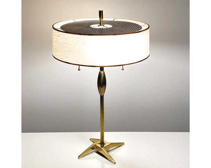 Rare Vintage Stiffel Mid Century Modern Brass Desk Lamp 1950s