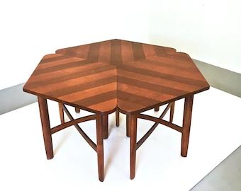 Rare Barney Flagg Drexel Coffee Table Side Table Set 1960s
