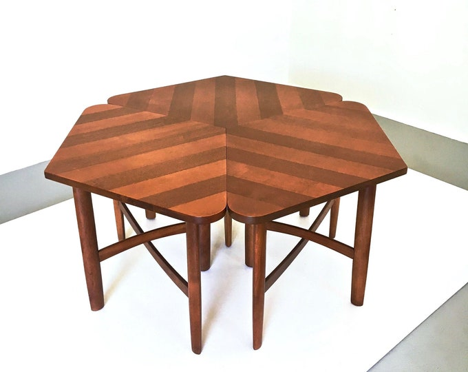 Rare Barney Flagg Drexel Coffee Table Side Table Set 1960s