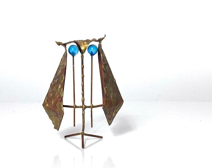 Modernist Owl Sculpture by Ernesto Gonzalez Jerez 1960s