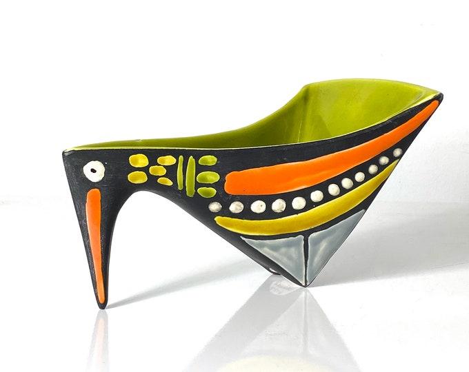 Rare Alvino Bagni Raymor Pottery Bird Bowl 1960s