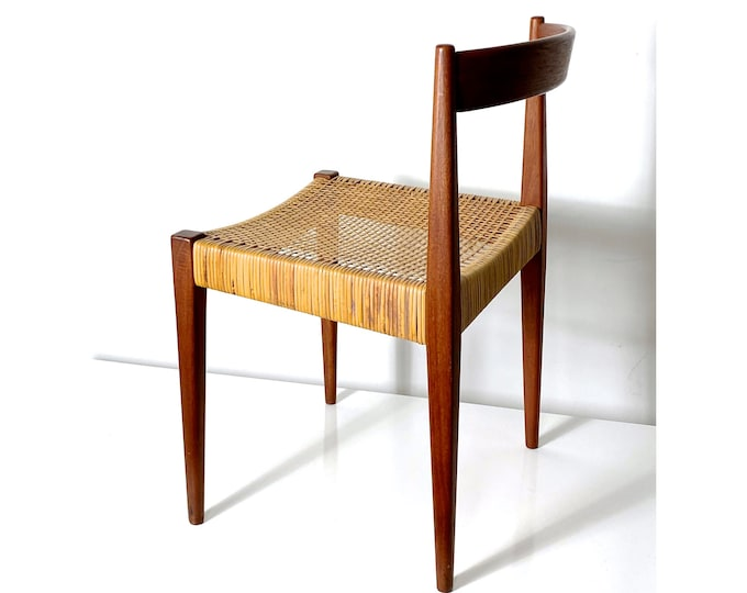 Nanna and Jorgen Ditzel Teak Cane Desk Chair 1955
