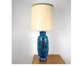 Aldo Londi Bitossi Large Table Lamp w/ Original Shade 1960's