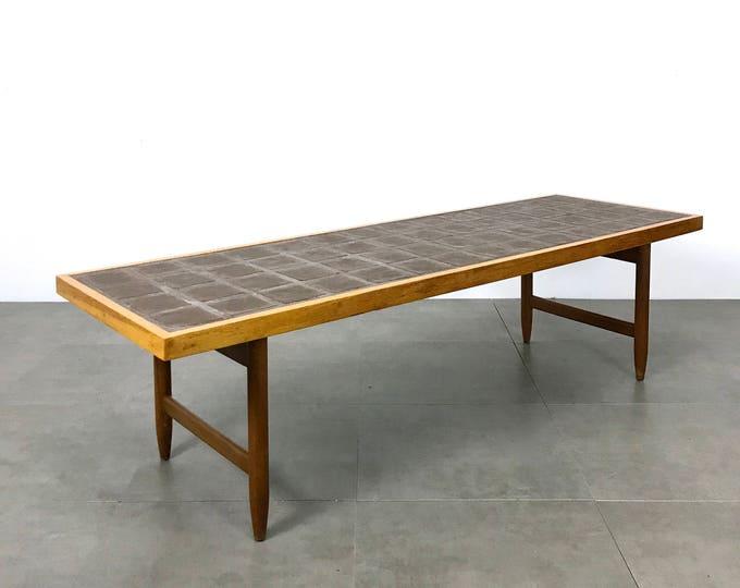 Vintage Danish Modern Tile Top Coffee Table 1960's