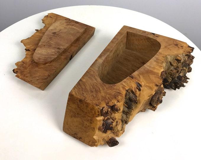 Michael Elkan Studio Craft Burl Wood Box 1980's