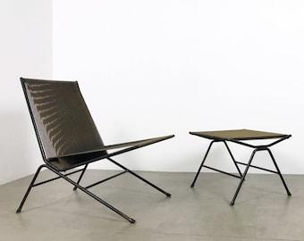 Allan Gould String Lounge Chair & Ottoman 1952