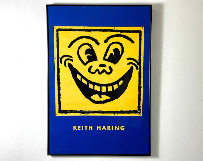 Rare Keith Haring Smile Limited Edition Print 1993