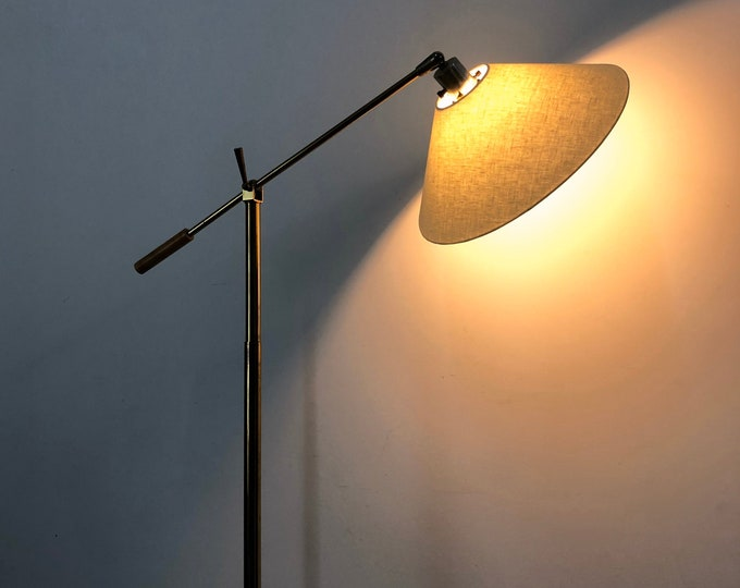 Vintage Brass Articulated Floor Lamp 1950's