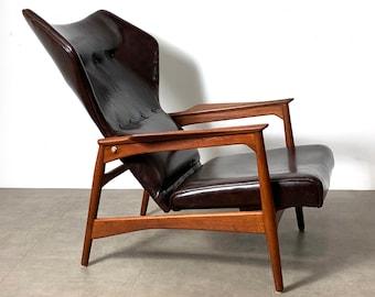 Ib Kofod Larsen Reclining Lounge Chair 1960's