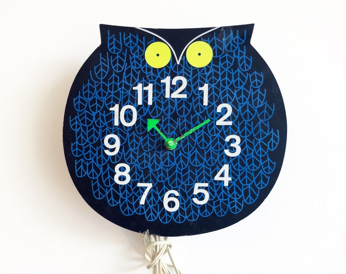 Original George Nelson Omar The Owl Zoo Timer Clock 1965