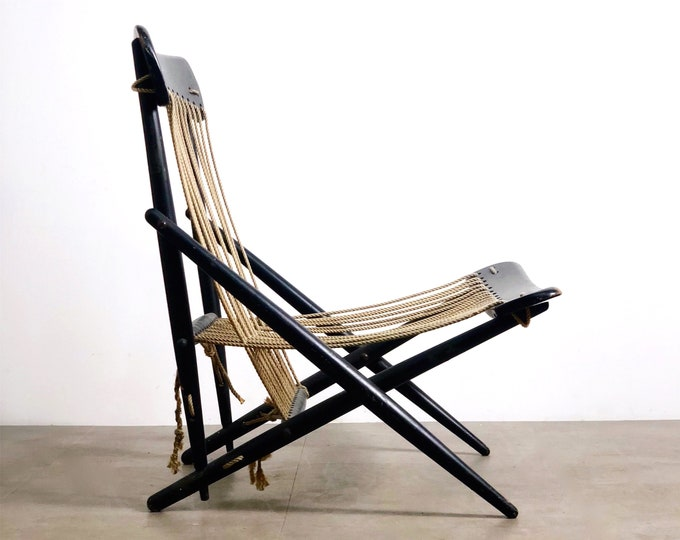 Rare Maruni Rope Lounge Chair Japan 1950's