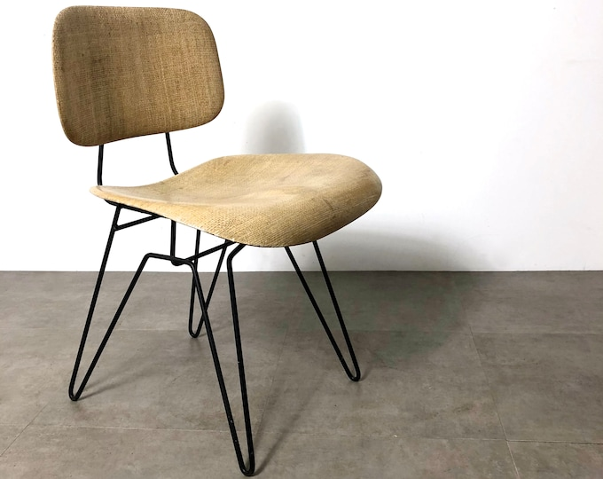 Hobart Wells for Lensol-Wells Fiberglass & Iron Chair, 1950's