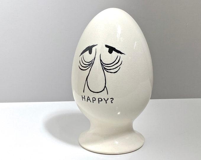 Vintage Lagardo Tackett Ceramic Egg Head 1950s