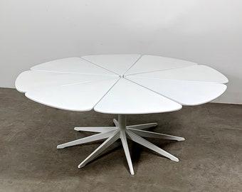 Vintage Richard Schultz Petal Coffee Table in White 1960's
