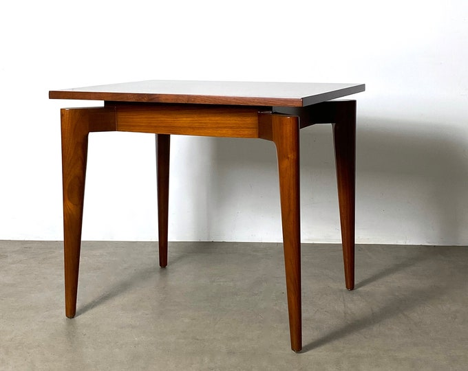 1950s Gio Ponti Style Walnut Side or End Table