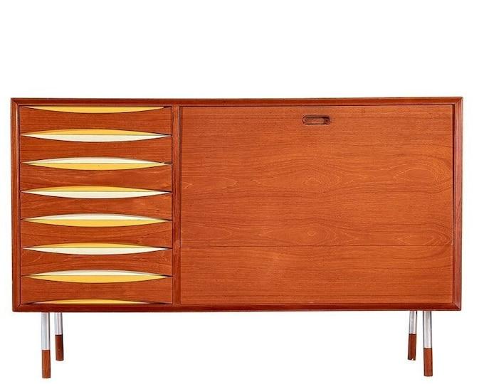 Rare Arne Vodder Sibast Teak Bar Cabinet 1950s