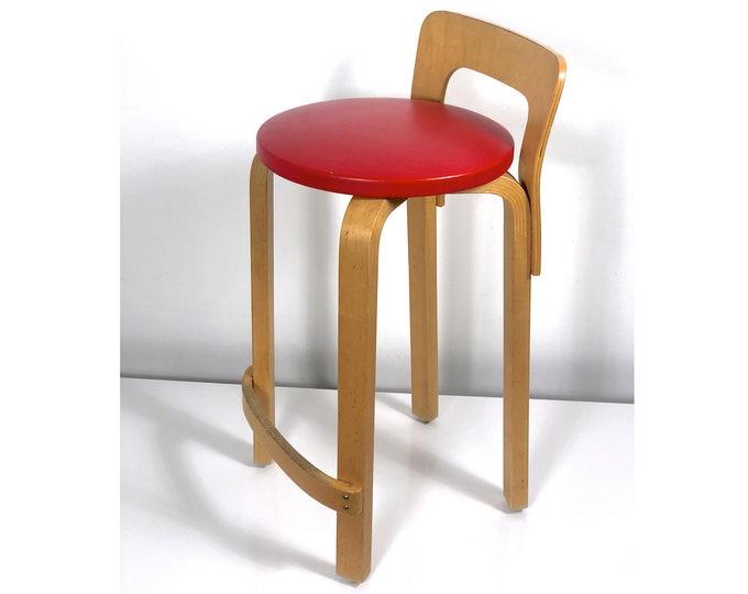 Original Alvar Aalto Artek K65 High Chair Finland 1940's