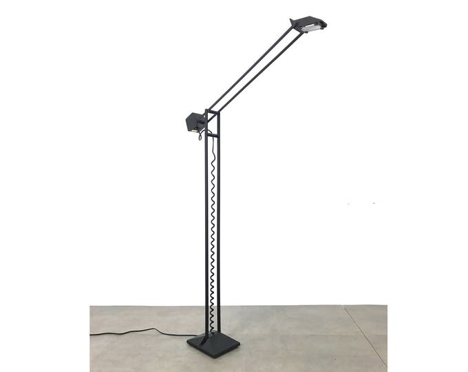 Vintage Post-Modern Articulated Crane Floor Lamp 1980's