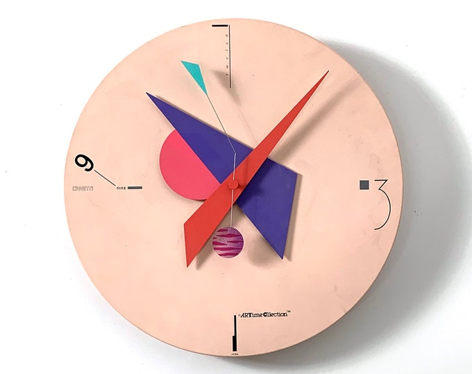 Nicolai Canetti Art Time Wall Clock 1980's