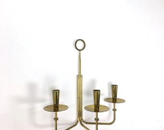 Rare Vintage Tommi Parzinger For Dorlyn Brass Wall Candelabra Sconce Mid Century Modern