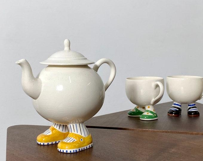 Vintage Walking Ware Tea Set Carlton Ware England 19703