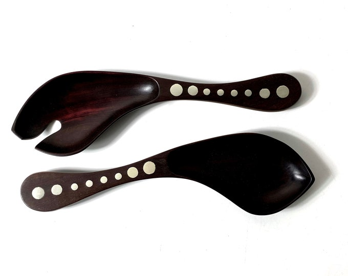 William Spratling Rosewood and Silver Serving Set 1950s