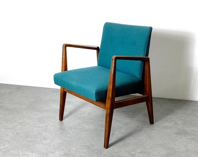 Vintage Jens Risom Upholstered Armchair 1960s
