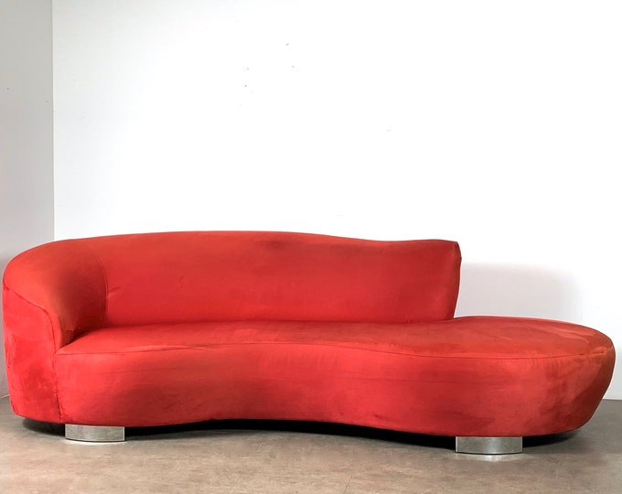 LVintage Cloud Serpentine Sofa, Styled after Vladimir Kagan