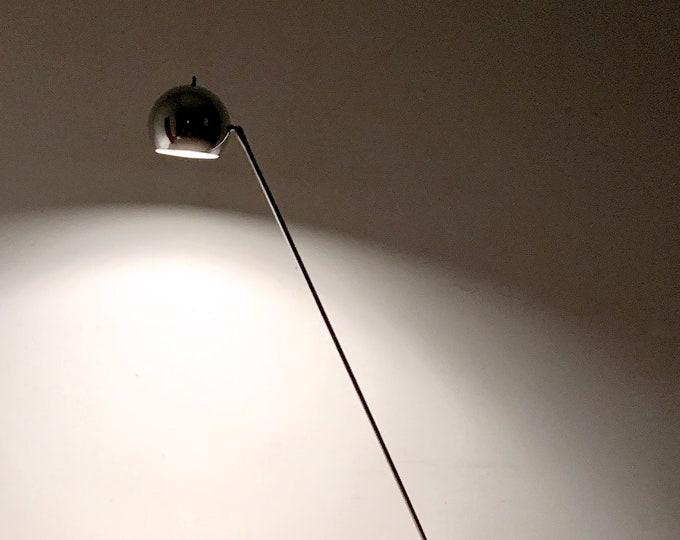 Vintage Robert Sonneman Chrome Eyeball Articulated Floor Lamp 1960s