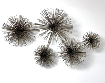 Vintage Curtis Jere Pom Pom Urchin Wall Sculpture 1970's