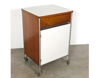 Raymond Loewy Hill-Rom Rolling Cabinet 1950's