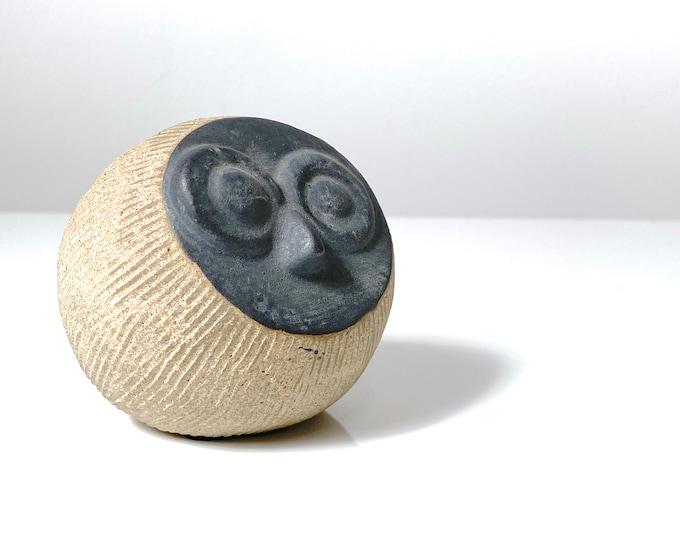 Mid Century Ceramic Owl Sculpture 1960s