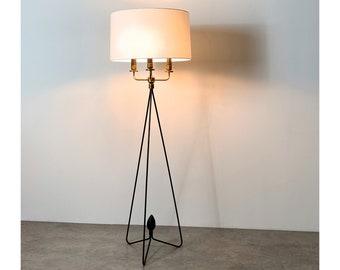 Gerald Thurston Lightolier Hairpin Floor Lamp 1950s