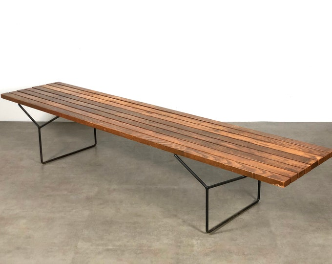 "Early and Rare 82"" Harry Bertoia Bench for Knoll 1950's"