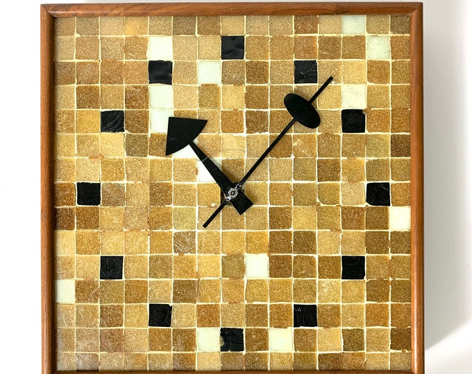 Rare George Nelson Mosaic Tile Wall Clock 1950's