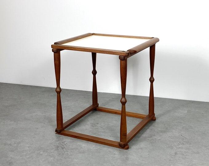 Vintage Danish Modern Teak Tray Side Table 1960s