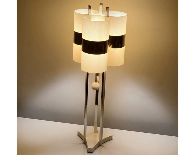 Rare Modeline Table Lamp Space Age Chrome and Acrylic 1970s