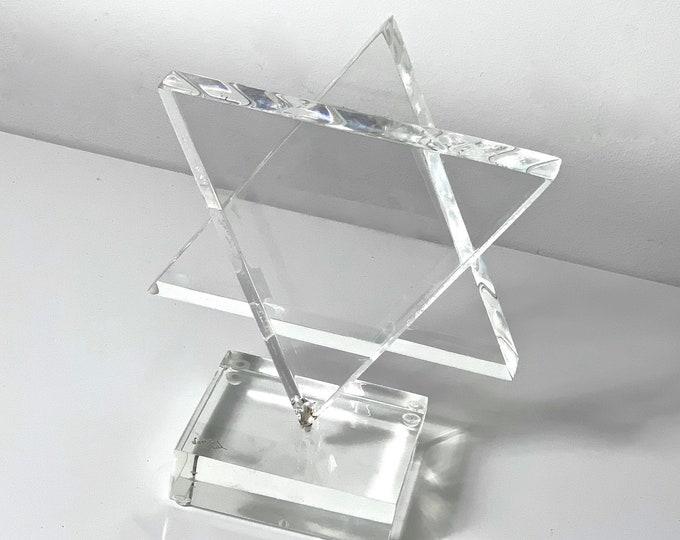 Hivo Van Teal Lucite Star of David Sculpture 1970's
