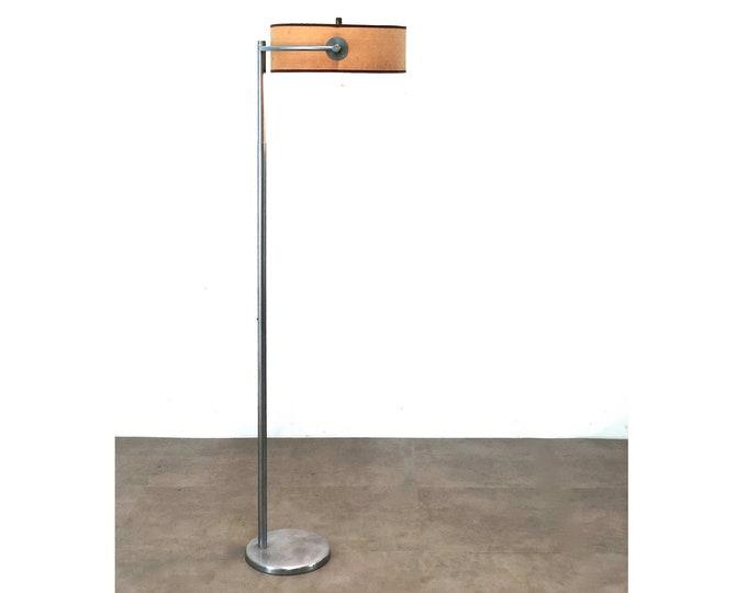 Early Kurt Versen Aluminum Floor Lamp, 1940's