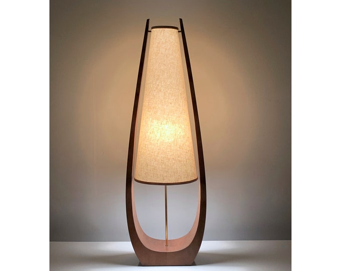 """41"""" Tall Mid Century Modern Table Lamp Attributed to Modeline 1960's"""