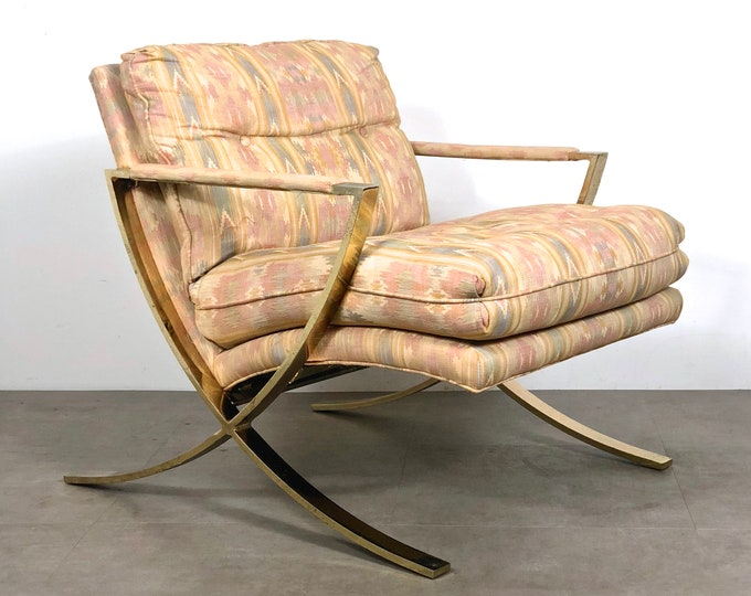 Vintage Brass X Lounge Chair 1970's
