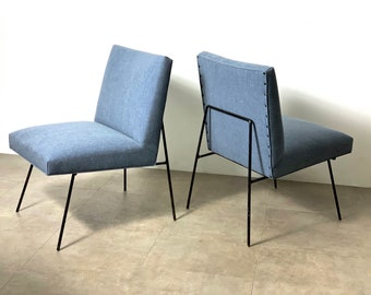 Pair Allan Gould Style Lounge Chairs 1950's