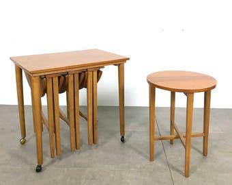 Poul Hundevad Teak Nesting Table Set 1960's