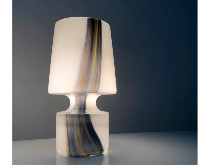 Solid Glass Table Lamp by Laurel, 1960's 1970's