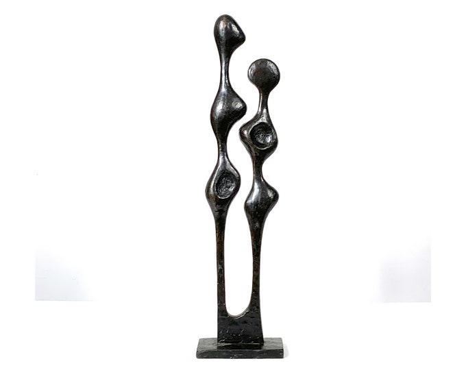 Tall Bronze Abstract Figural Sculpture 1960's