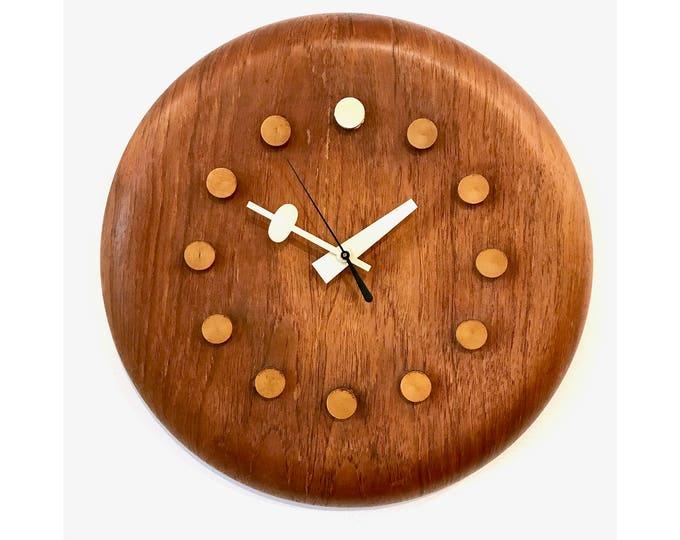 Vintage George Nelson / Fritz Hansen Wall Clock 1950's